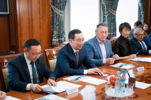 The meeting with the head of Yakutia Aysen Nikolaev and the leadership of INK