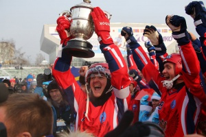The Russian bandy team got lucky on the Irkutsk ice