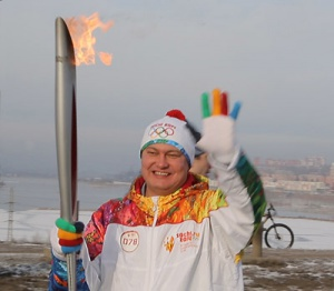 The company's representative has participated in the 2014 Winter Olympics torch relay